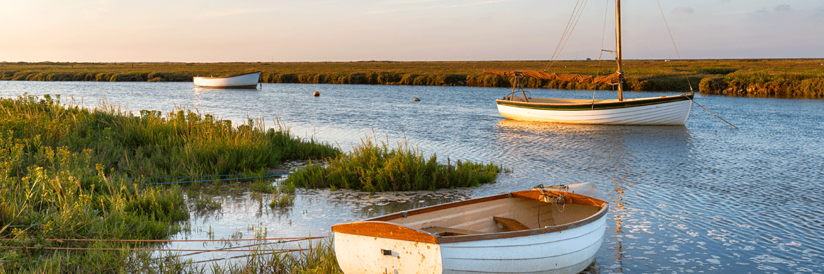 Boats at North Norfolk Salt Marshes